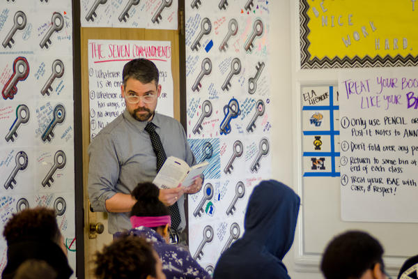 Jeff Konkel is a teacher with KIPP St. Louis charter schools after completing a teacher residency program to recruit second-career teachers.