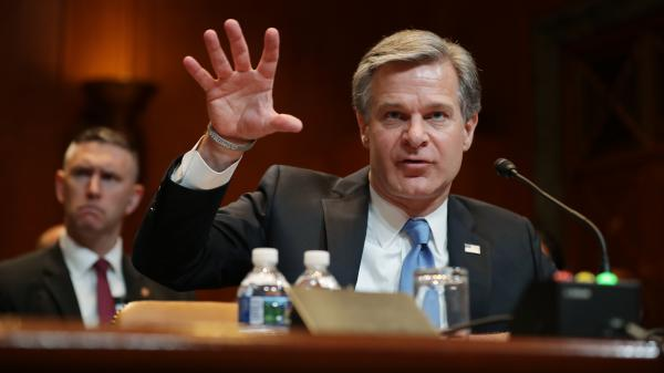 Federal Bureau of Investigation Director Christopher Wray testifies before the Senate Appropriations Committee on the bureau's 2020 budget in the Dirksen Senate Office Building on Capitol Hill May 7, 2019 in Washington, D.C.