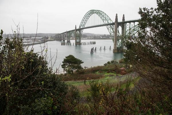 <p>The Yaquina Bay Bridge in Newport was constructed in 1936.&nbsp;</p>