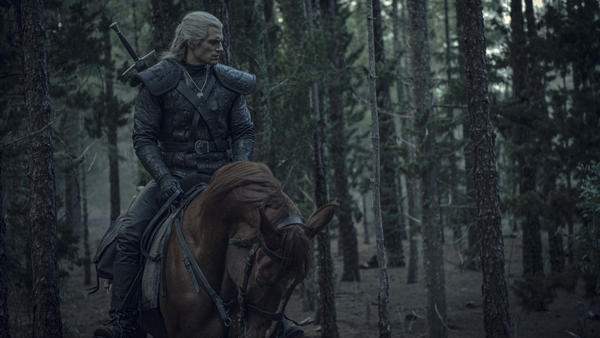 """Geralt of Rivia (Henry Cavill) potentially traveling through the much speculated about """"valley of plenty"""" mentioned in the song """"Toss A Coin To Your Witcher."""""""