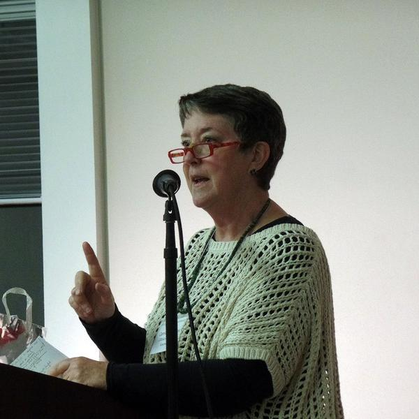 Carrie Knowles giving a workshop as the 2014 North Carolina Piedmont Laureate in short fiction.