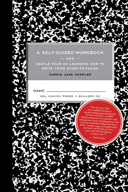 The cover of Knowles' forthcoming book, 'A Self-Guided Workbook and Gentle Tour on Learning How to Write from Start-to-Finish.'