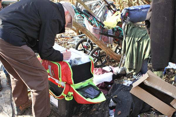 Mount Carmel's street outreach team goes out to homeless camps around Columbus to give check-ups and prescribe medicine.