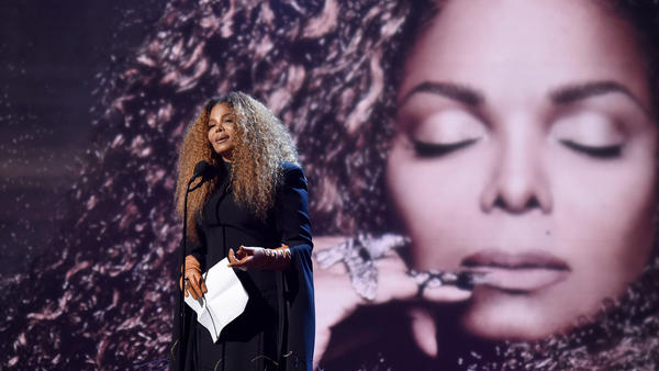 Janet Jackson speaks onstage during the 2019 Rock & Roll Hall of Fame Induction Ceremony. In her speech, she criticized the lack of women in the Rock Hall.