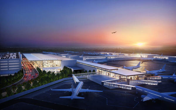 City officials expects thousands of jobs to be created as construction begins on a new airport terminal at Kansas City International Airport.