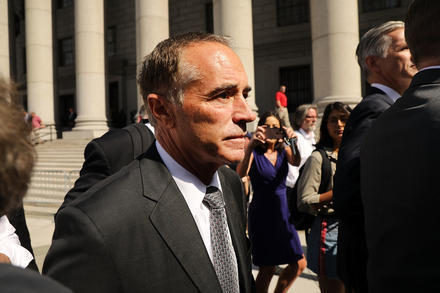 Former Congressman Chris Collins will be sentenced Friday afternoon in Manhattan for insider trading.