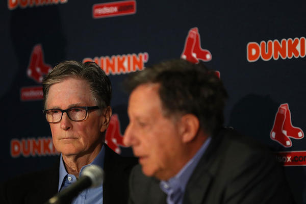 Red Sox Owner John Henry looks on during a press conference addressing the departure of Alex Cora as manager of the Boston Red Sox at Fenway Park on Jan. 15, 2020 in Boston, Mass. A MLB investigation concluded that Cora was involved in the Houston Astros sign stealing operation in 2017 while he was the bench coach. (Maddie Meyer/Getty Images)