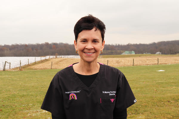 Melissa Thomas organizes mobile mammography clinics for Amish women.