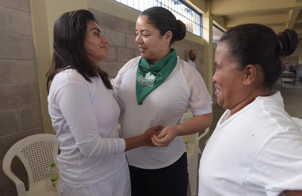 Democratic Florida state Rep. Cindy Polo of Miami Lakes, center, in November meeting women imprisoned in El Salvador on abortion charges.