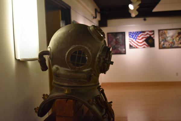 Tom Boylan's old diving helmet.