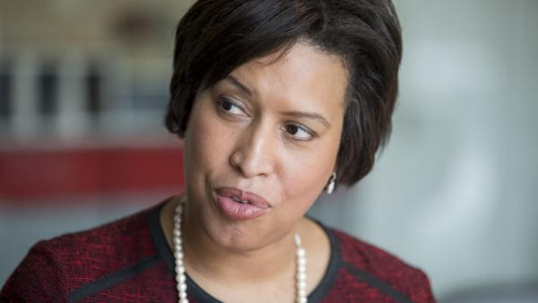 Mayor Muriel Bowser, seen here in a file photo, joined hundreds of mayors from across the country at the annual winter conference of mayors in Washington, D.C., where they discussed the issue of gun violence. In 2019, homicides reached the highest tally the city had seen in a decade.