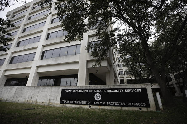 The Texas Department of Family and Protective Services offices in Austin.