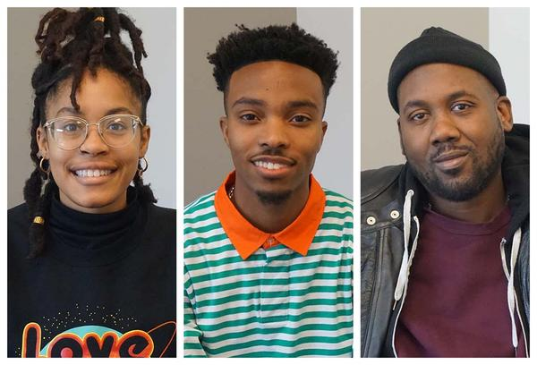(L-R) Nyara Williams, Collin Elliott and Tef Poe joined Wednesday's talk show to discuss Harvard University's first #IntheCity Visual Arts Fellowship.