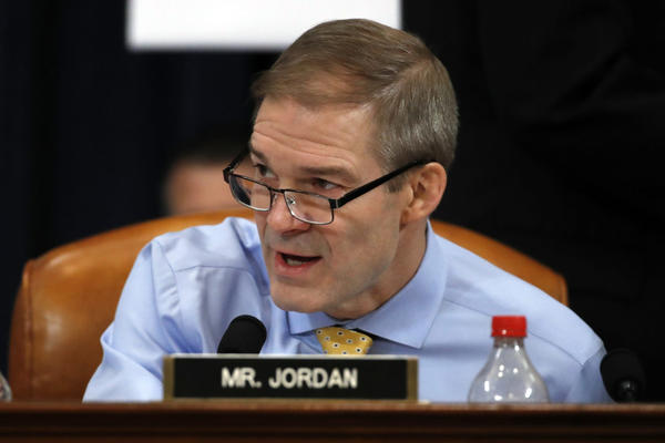 Rep. Jim Jordan speaks during a House Judiciary Committee markup of the articles of impeachment against President Trump on Dec. 12, 2019. (Alex Brandon/AP)