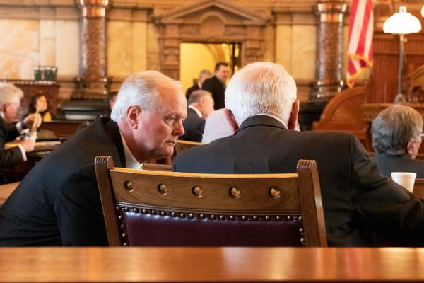 Republican Sen. Gene Suellentrop, left, will chair     hearings on a compromise Medicaid expansion plan starting this week.