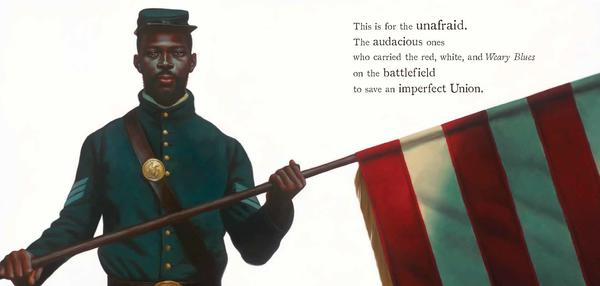 A glimpse inside <em>The Undefeated</em>, illustrated by Kadir Nelson and written by Kwame Alexander. The book won the Caldecott Medal on Monday at the annual Youth Media Awards in Philadelphia.
