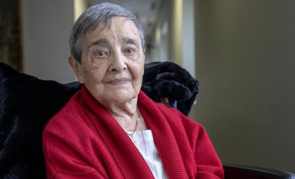 Psychoanalyst, scholar and writer Anna Ornstein. (Robin Lubbock/WBUR)