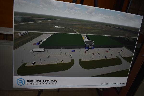Concept art of Revolution's eventual plans for its Delavan, Ill. cannabis cultivation facility.