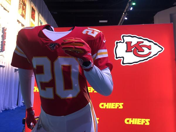 The Super Bowl Experience event at the Miami Beach Convention Center featured headless mannequins that allowed football fans to take pictures pretending to be wearing their favorite team's uniform.