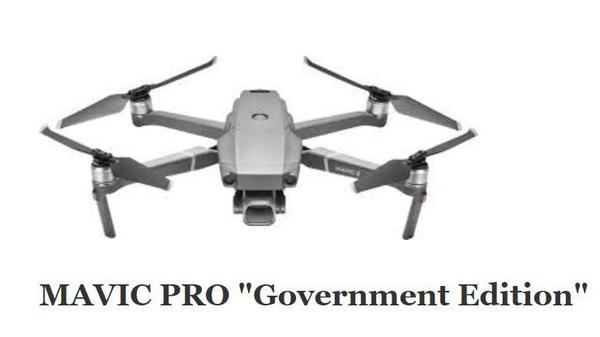 "The Interior Department is grounding its fleet of drones — including Chinese-made models such as this specialized ""government edition"" Mavic Pro, made by DJI."