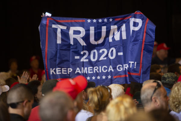 Thursday's campaign stops  were the first campaign rallies of the election year for the Trump campaign.