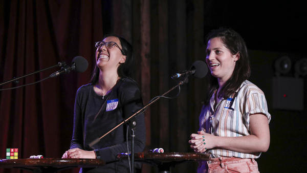 Contestants go head-to-head in <em>Ask Me Another</em>'s final round at the Bell House in Brooklyn, New York.