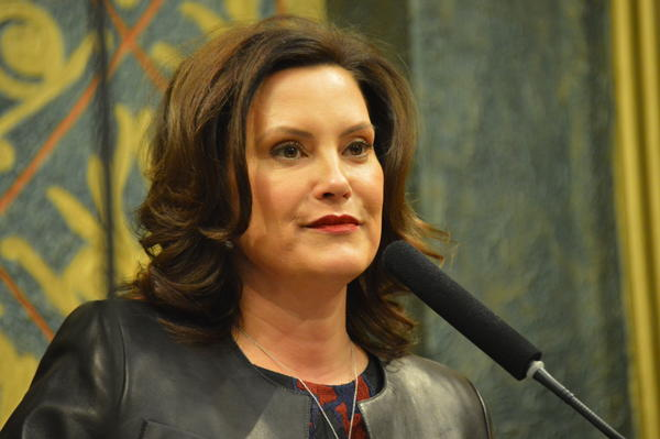 Governor Gretchen Whitmer at her second State of the State speech January 29. She'll be giving the Democratic rebuttal to President Trump's State of the Union speech next Tuesday.