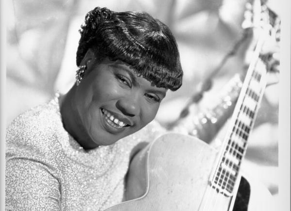 Sister Rosetta Tharpe, circa 1950. In 1951, she got married in a baseball stadium and performed a concert in front of thousands of fans.