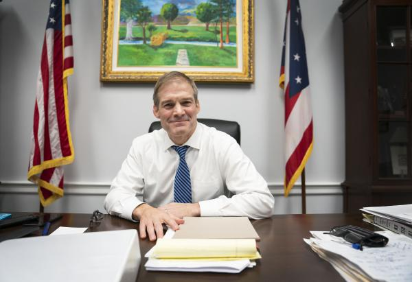 Rep. Jim Jordan, R-Ohio, has joined the House Intelligence Committee to bolster the Republican defense of President Trump in the impeachment inquiry.