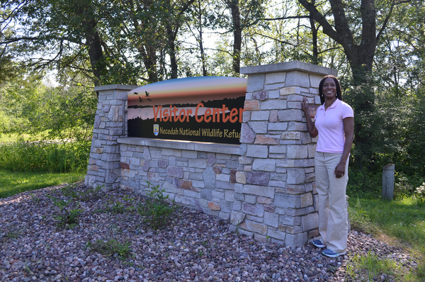 Aurelia Skipwith visits Necedah National Wildlife Refuge.