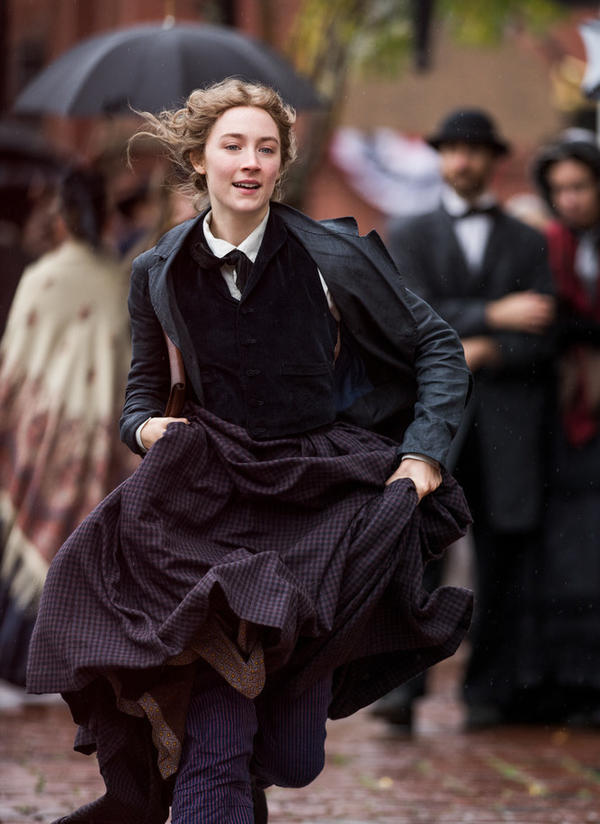 "Saoirse Ronan plays Jo March in Greta Gerwig's film adaptation of Louisa May Alcott's <em>Little Women. ""</em>The only people that I really envy, I think, are kids because they have the best of everything,"" Ronan says."