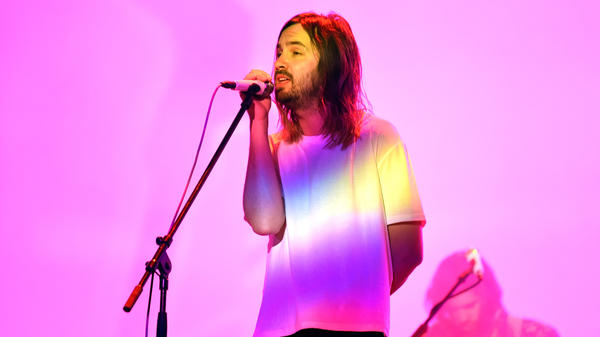 Kevin Parker of Tame Impala performs at Coachella in 2019. The band's latest album, <em>The Slow Rush</em>, is due out in February.