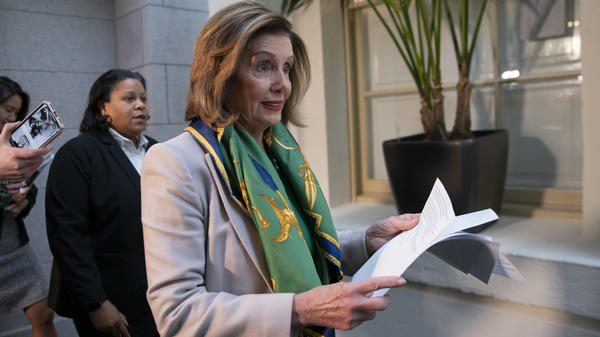 Speaker Nancy Pelosi told Democrats the House will vote to send the articles of impeachment against President Trump to the Senate Wednesday.