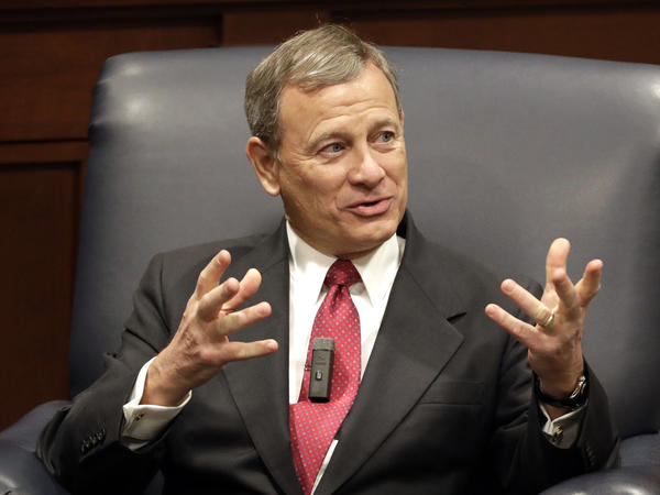 """OK, boomer"" made its first appearance in the Supreme Court Wednesday, invoked by Chief Justice John Roberts, seen here in February 2019, in an age-discrimination case."