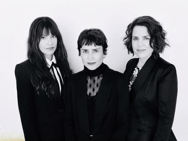 "(L-R) Tanya, Rachel and Petra Haden. ""We usually just naturally gravitate towards a harmony,"" Tanya says."