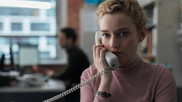 Julia Garner stars as a young college graduate who grows increasingly uncomfortable working for a New York-based movie mogul in <em>The Assistant.</em>