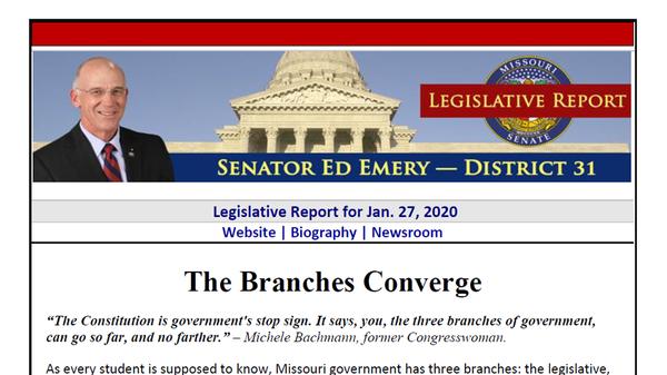 Republican state Sen. Ed Emery's Monday legislative report compared abortion to slavery.