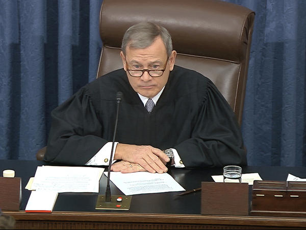 Chief Justice John Roberts, who is presiding over President Trump's Senate impeachment trial, declined Thursday to read a question submitted by Sen. Rand Paul, R-Ky.