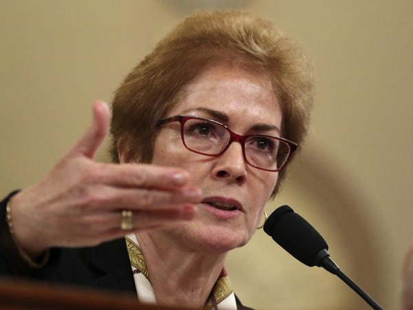Former U.S. Ambassador to Ukraine Marie Yovanovitch testifies before the House Intelligence Committee on Capitol Hill in Washington in November.