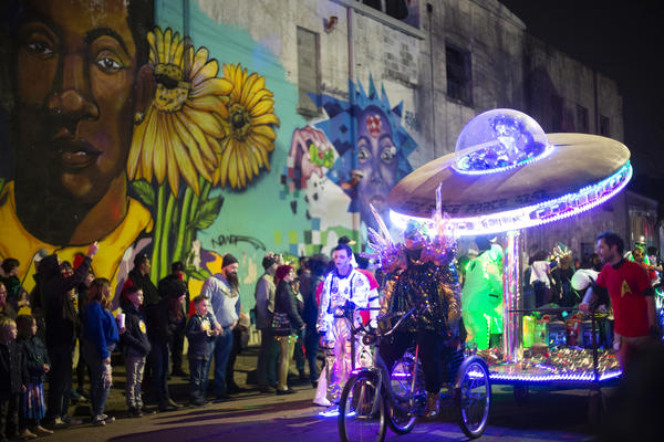 The Intergalactic Krewe of Chewbacchus's Tenth Anniversary Parade rolls through the streets of New Orleans on Saturday night.