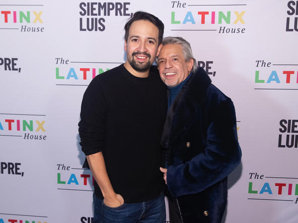 Lin-Manuel Miranda (L) and Luis A. Miranda attend the official after party for <em>Siempre, Luis</em>, which premiered at the Sundance Film Festival.