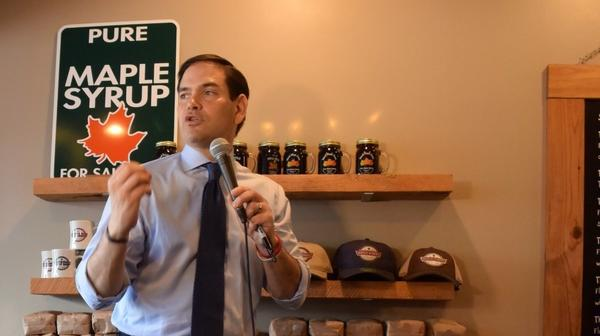 Sen. Marco Rubio campaigns for president in Jacksonville in 2016.