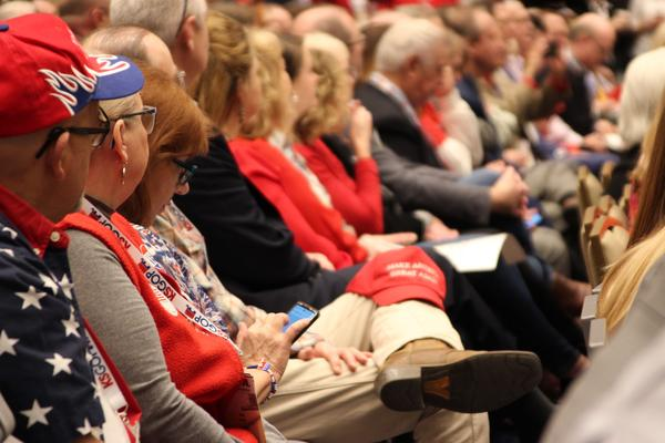 Kansas Republicans packed into a room in Olathe hear three of the four U.S. Senate candidates debate for the first time on Saturday.
