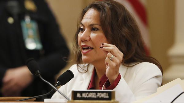 Rep. Veronica Escobar, D-Texas, speaks during a House Judiciary Committee markup. She delivered the Spanish-language response to President Trump's State of the Union address Tuesday.