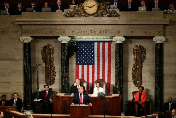 President Trump's State of the Union address laid bare his bitter partisan standoff with Democrats and left little doubt that legislative accomplishments between now and the election will be difficult.