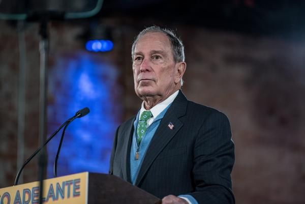 Democratic presidential candidate and former New York City Mayor Mike Bloomberg campaigns in El Paso, Texas.