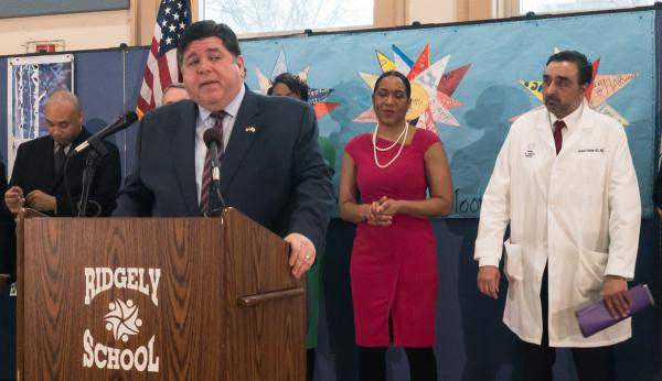 Gov. J.B. Pritzker says the diversity of Illinois' population means the state has a lot to offer the presidential primary process.