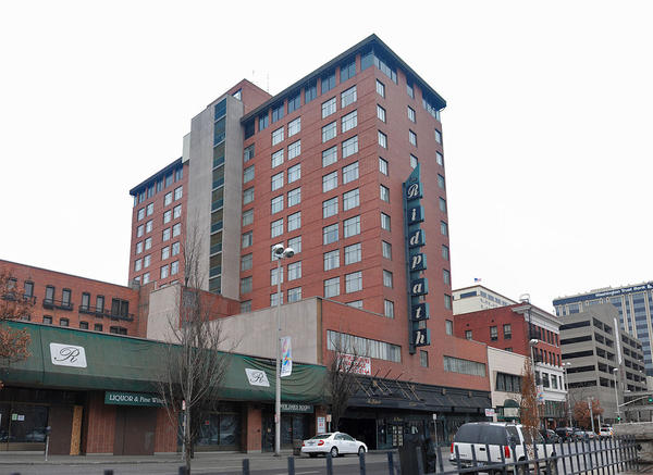 The former Ridpath Hotel in downtown Spokane was vacant for several years before developer Ron Wells and other got involved to help restore and convert it into affordable apartment housing.