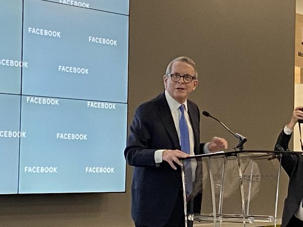 Gov. Mike DeWine at Facebook, New Albany