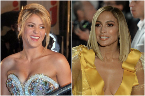 Shakira, left, and Jennifer Lopez performed at the Super Bowl halftime show on Sunday. The performance sparked heated debate particularly on social media.